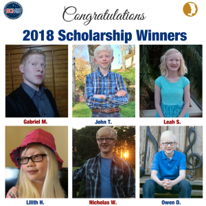 2018 Space Camp Scholarship Winners