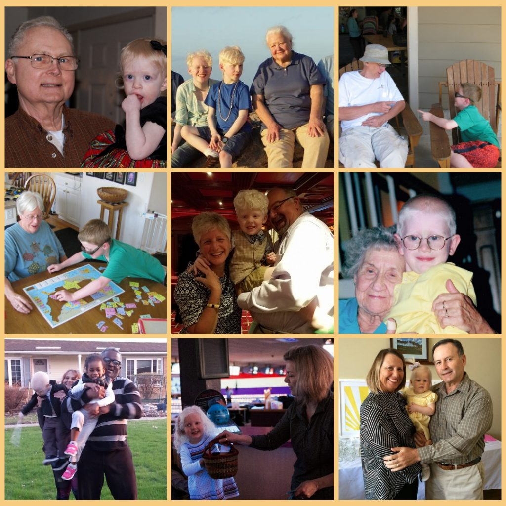 Photo Collage of Grandparents with their Grandchildren