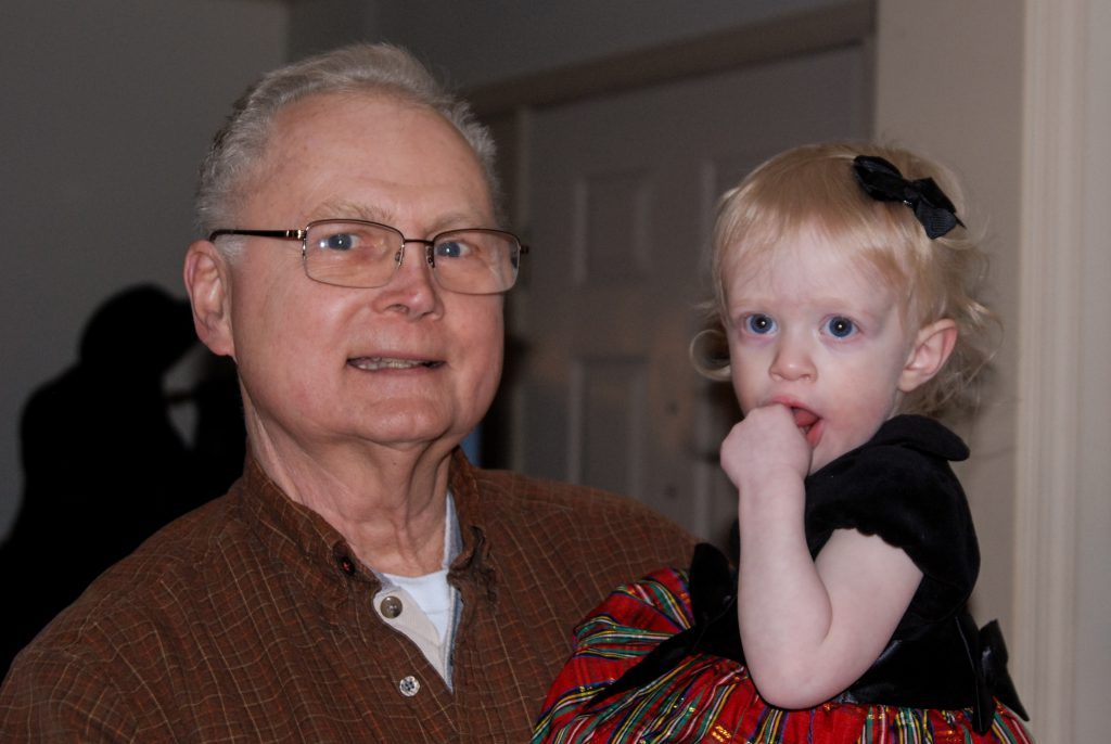 Maisie with her grandpy