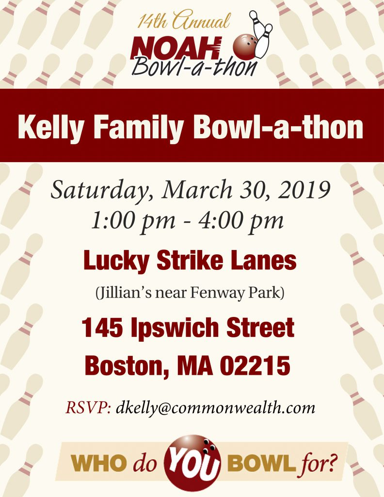 Kelly Family Bowl-a-thon Flyer