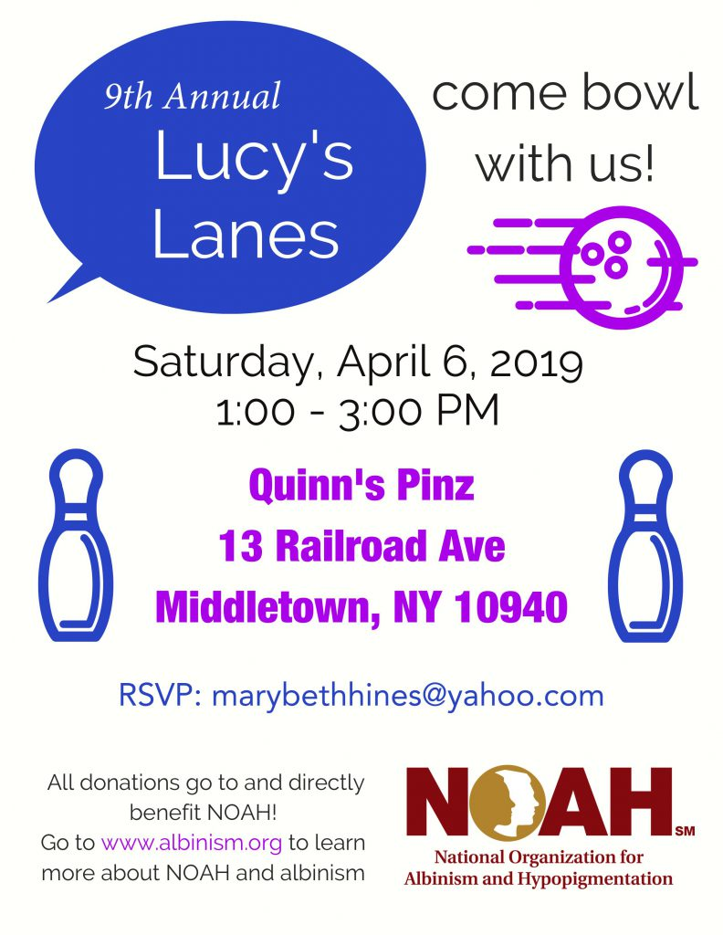 Lucy's Lanes Bowl-a-thon Flyer