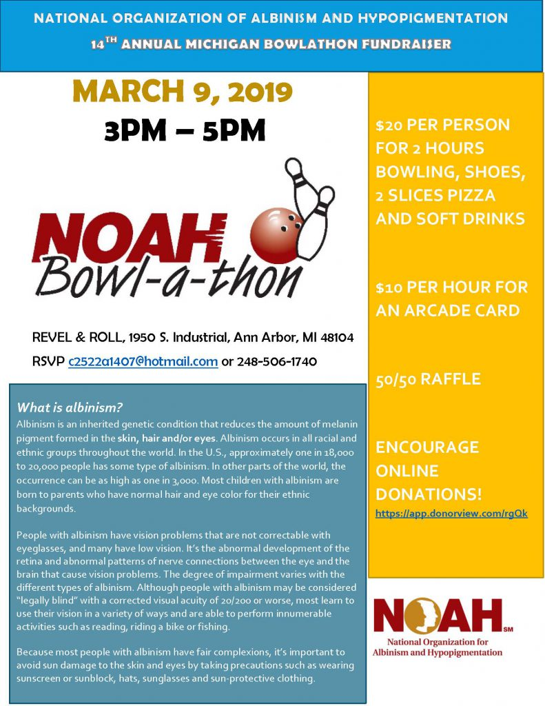 Michigan NOAH Bowl-a-thon