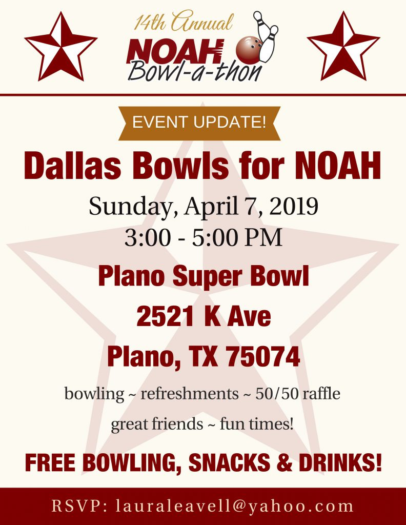 Dallas Bowls for NOAH Event Flyer