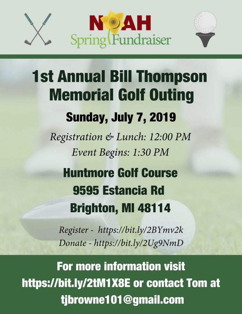 1st Annual Bill Thompson Memorial Golf Outing Flyer