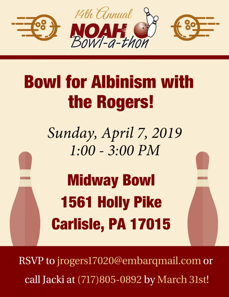 Bowl for Albinism with the Rogers Flyer