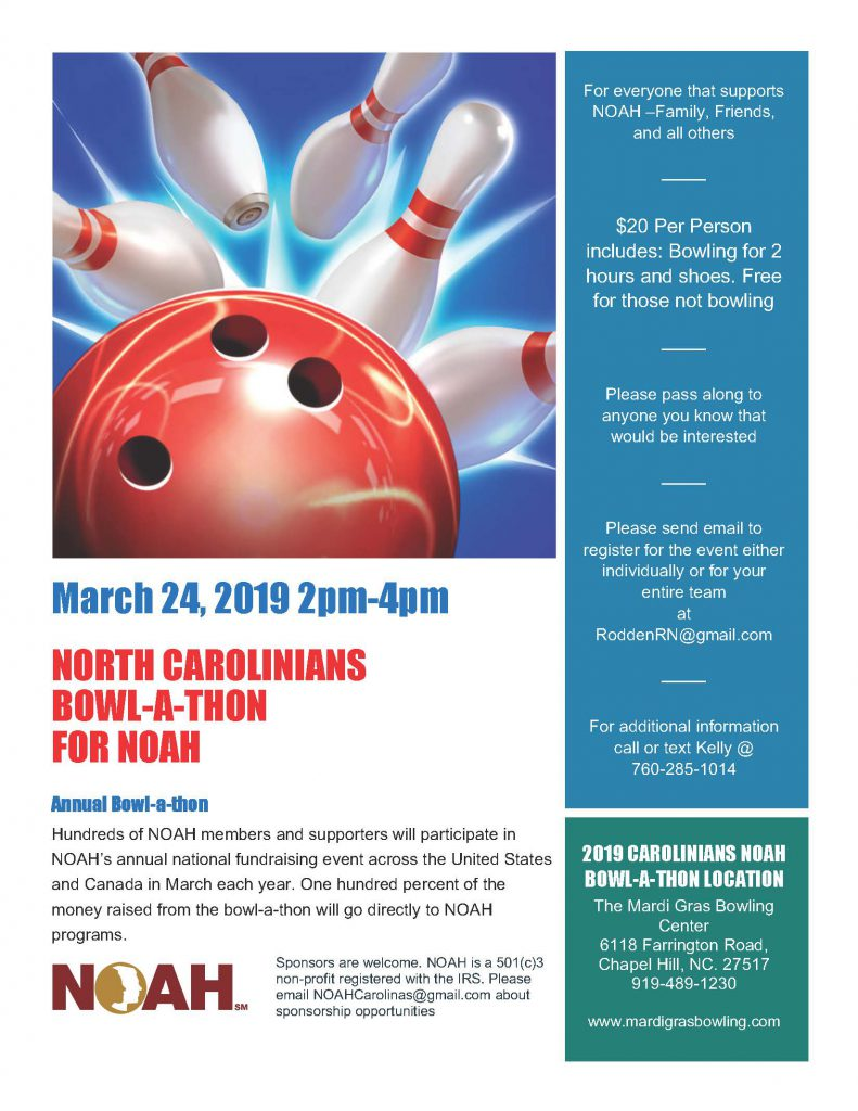 North Carolinians Bowl-a-thon