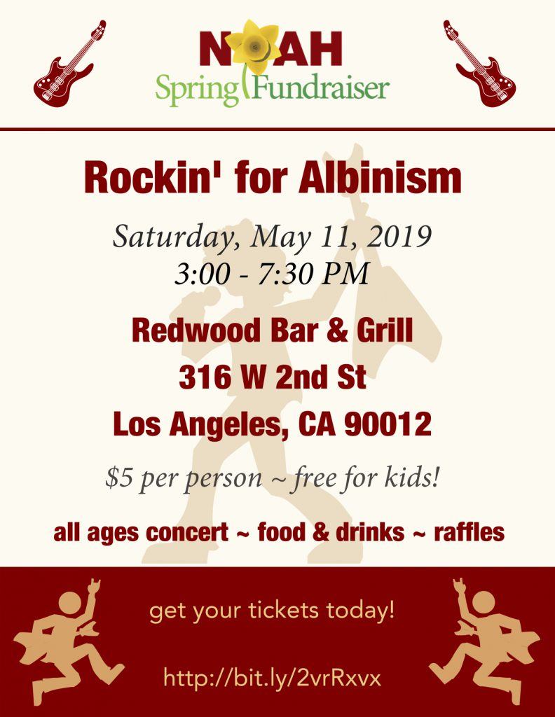 Rockin' for Albinism Flyer