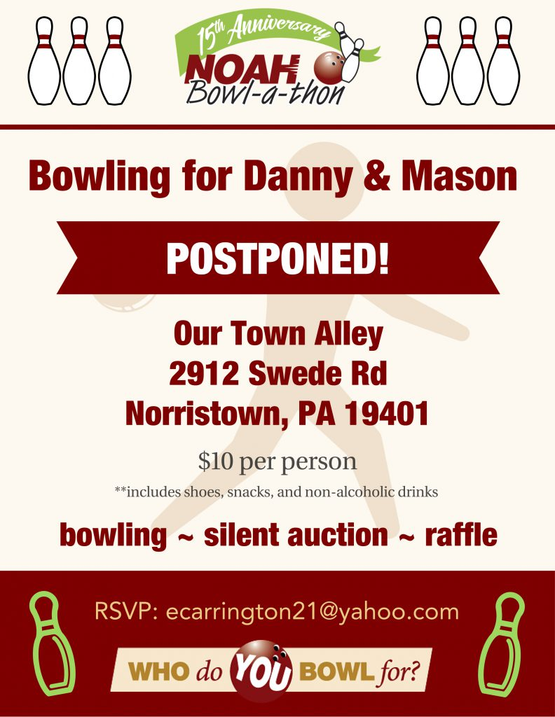 Bowling for Danny & Mason Flyer