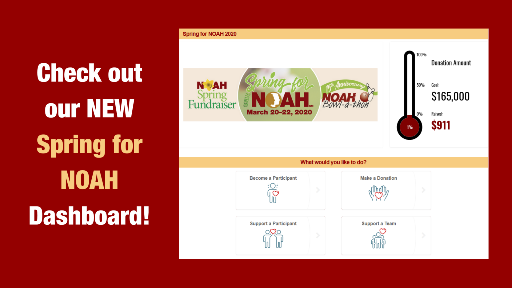 Check out our NEW Spring for NOAH  Dashboad!