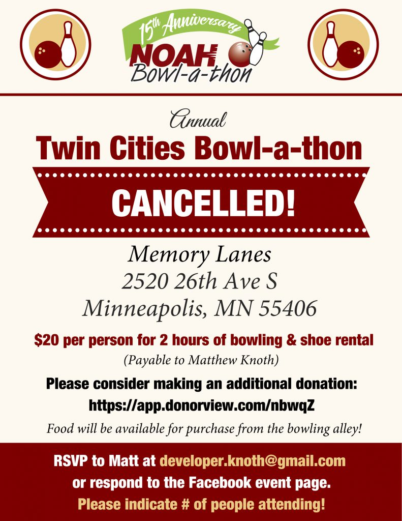 Twin Cities Bowl-a-thon Flyer