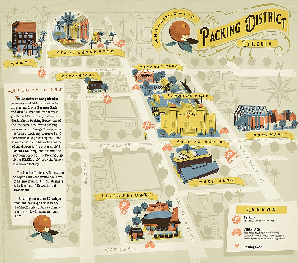 Packing District Map