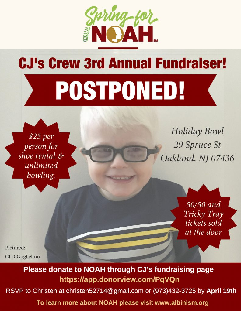 CJ's Crew 3rd Annual Fundraiser POSTPONED!