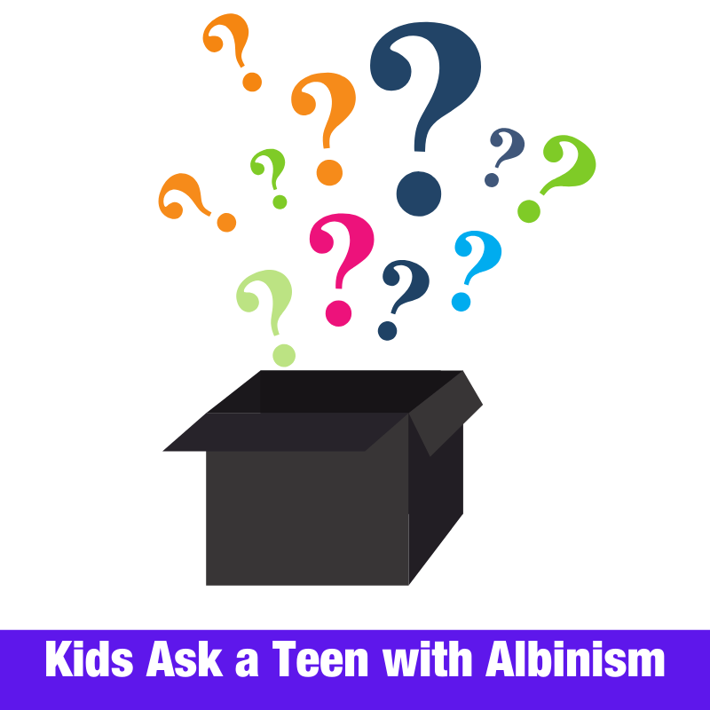 Kids Ask a Teen with Albinism
