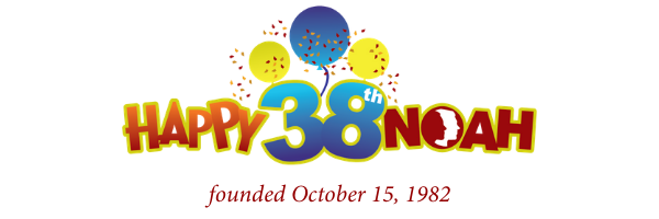 Happy 38th NOAH founded October 15, 1982