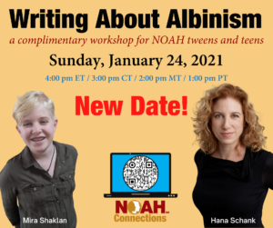 Writing About Albinism Sunday January 24, 2021